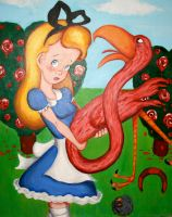 Alice and the Flamingo by Alexis-Paige