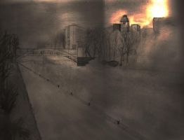 Pespective Sketch - River Soar by spud1077