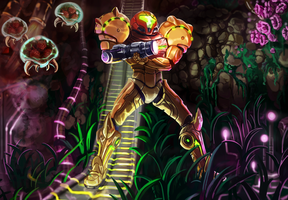 Metroid Illustration by otherworldmedia