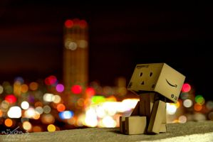 Danbo enjoying the view of Penang by fighteden