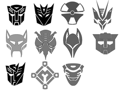 Transformer Symbol Brush Set by Drayfrjg