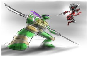 Donatello vs Elektra by adventuresofp2