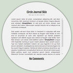 Circle Journal CSS by SimplySilent