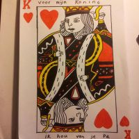 Heart King Card Drawing by Krayzieee