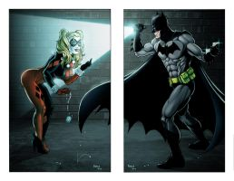 Batman vs Harley by GavinMichelli
