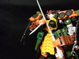 Bludgeon prepares to lead the Decepticon troops by forever-at-peace
