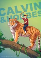 Calvin and Hobbes BADASS by Tohad