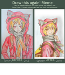 Draw this again! Meme - Cat Hoodie Dude by All-Bark-No-Bite