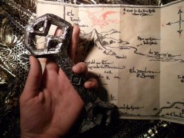 The Key and the Map of Erebor - handcrafted (det) by selva-s
