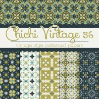 Free Chichi Vintage 36 Patterned Papers by TeacherYanie