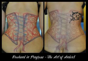 Corsage 1st Session by Anderstattoo