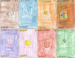 Trading Cards Set 9: Kanto League Badges by RMAfan101