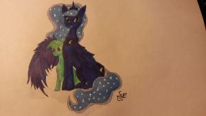 Celestia look my first student by LimeDreaming