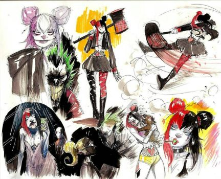 Harley Quinn doodles by COLOR-REAPER