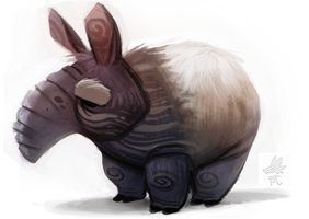 Day 668. Tapir Quickie by Cryptid-Creations