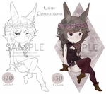 Chibi Commissions open! by siiju
