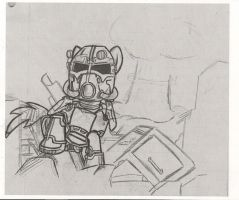 MLP Fallout Sketch by xeno-scorpion-alien
