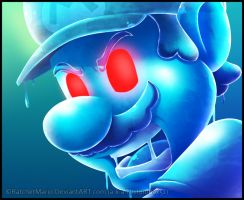Shadow Mario's Face Looking by RatchetMario