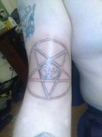 BDSM - Pentagram tattoo by Snkbyt