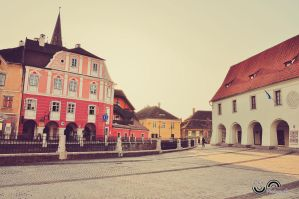 Small Square, Sibiu architecture by lalylaura