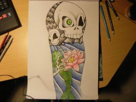 Two Skulls and a Fish. by Alexi-V1