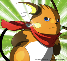 Jakk the Raichu by super-tuler