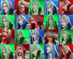 The Many Faces of Sephiroth by Angelus-Tenebrae