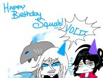 Happy Birthday Squalo! (and me) by Kikishadowwolf
