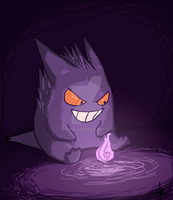 happy little gengar by urealistisk