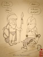 300 and God of War Crossover by BloodyMoogle