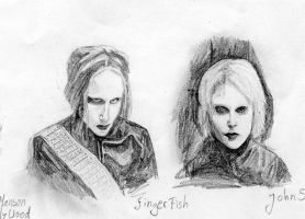 Ginger Fish and John 5 by h-a-r-l-e-k-i-n