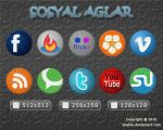 Social Network icons by enables