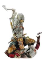Color Pencil Drawing:Assassins Creed 3 by Keshavsart