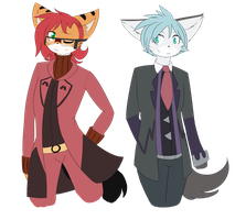 two cosplaying losers .:Art trade:. by xIlarix
