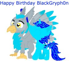 Happy Birthday BlackGryph0n! by Moralezk