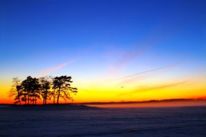 .Winter.Sunset.On.Ice. by TexRamone
