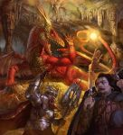 Red-Gold Dragon by Rhineville