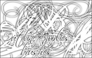 Outline Swirlies brushes by Irmes