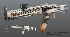 AK-74 / Flechette rifle by gausswerks
