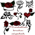 RoseTattoo-brushes by seiyastock