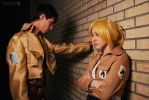 SnK: Annie and Bertholdt by Takushika-sempai