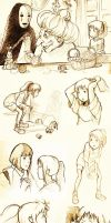 Spirited Away Sketch Dump! by NinjaWithAHat