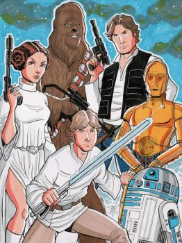 Star Wars Commission by calslayton