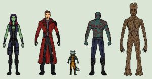 We're the Guardians of the Galaxy! by vandersonmetal