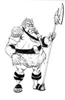 Gamorrean Guard Sketch by JeffLCL