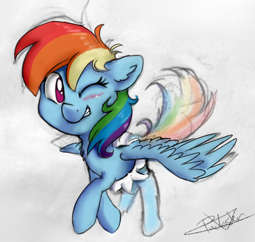 [Patreon] Here's Dashie! by PucksterV