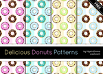 Delicious Donuts Patterns by MysticEmma