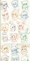 SD: So Many Faces by Thoughtless-Dreamer