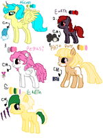 MLP name your Price Ponies by Cartoonfangirl4