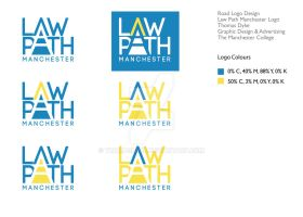 Law Path Manchester Logo Design 6 by thomasdyke